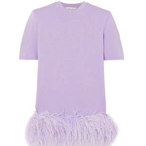 Attico Ostrich dress